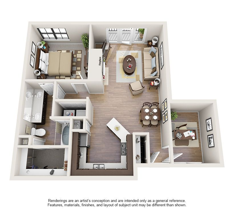 One And Two Bedroom Apartments In Oklahoma City Ok Oklahomacity Oklahoma Apartment Steadfast Brick Sims House Plans Apartment Layout Sims House Design