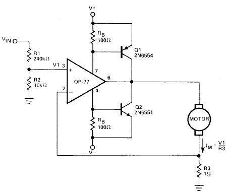 motor driver using  u202a  u200eop amp u202c