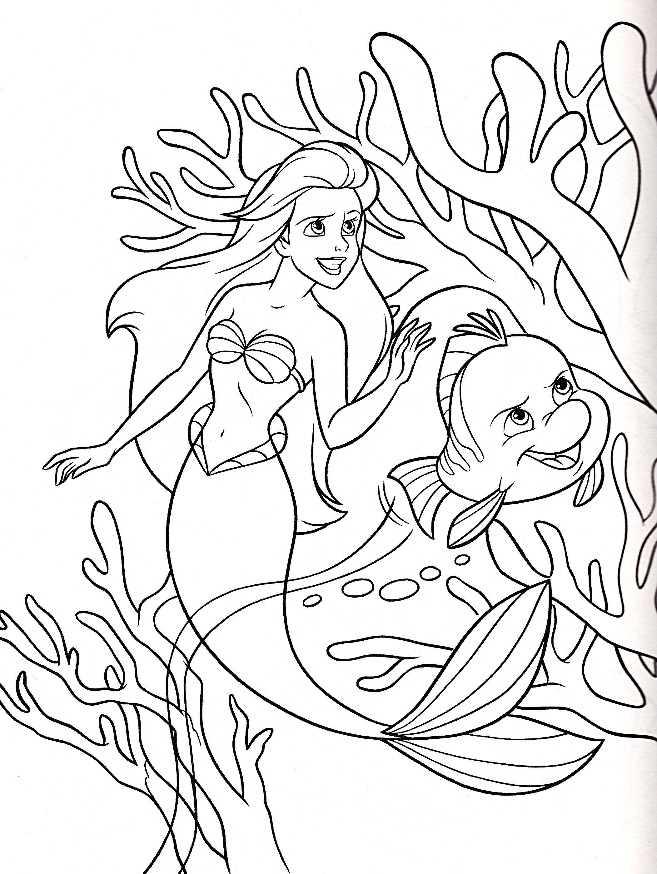 Walt Disney Coloring Pages Princess Ariel Flounder Walt Disney Characters 33143895 21 Disney Princess Coloring Pages Ariel Coloring Pages Mermaid Coloring Book