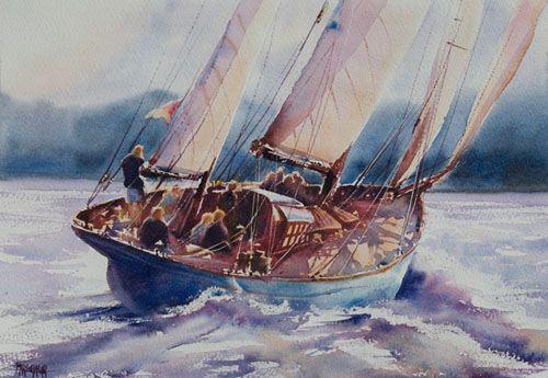 Aquarelles Marines Aquarelle Marichalar Watercolor Aquarelle