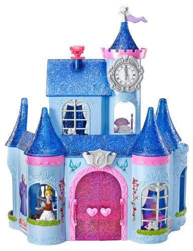 Amazon Com Cinderella Magic Clip Castle Doll House Toys Games