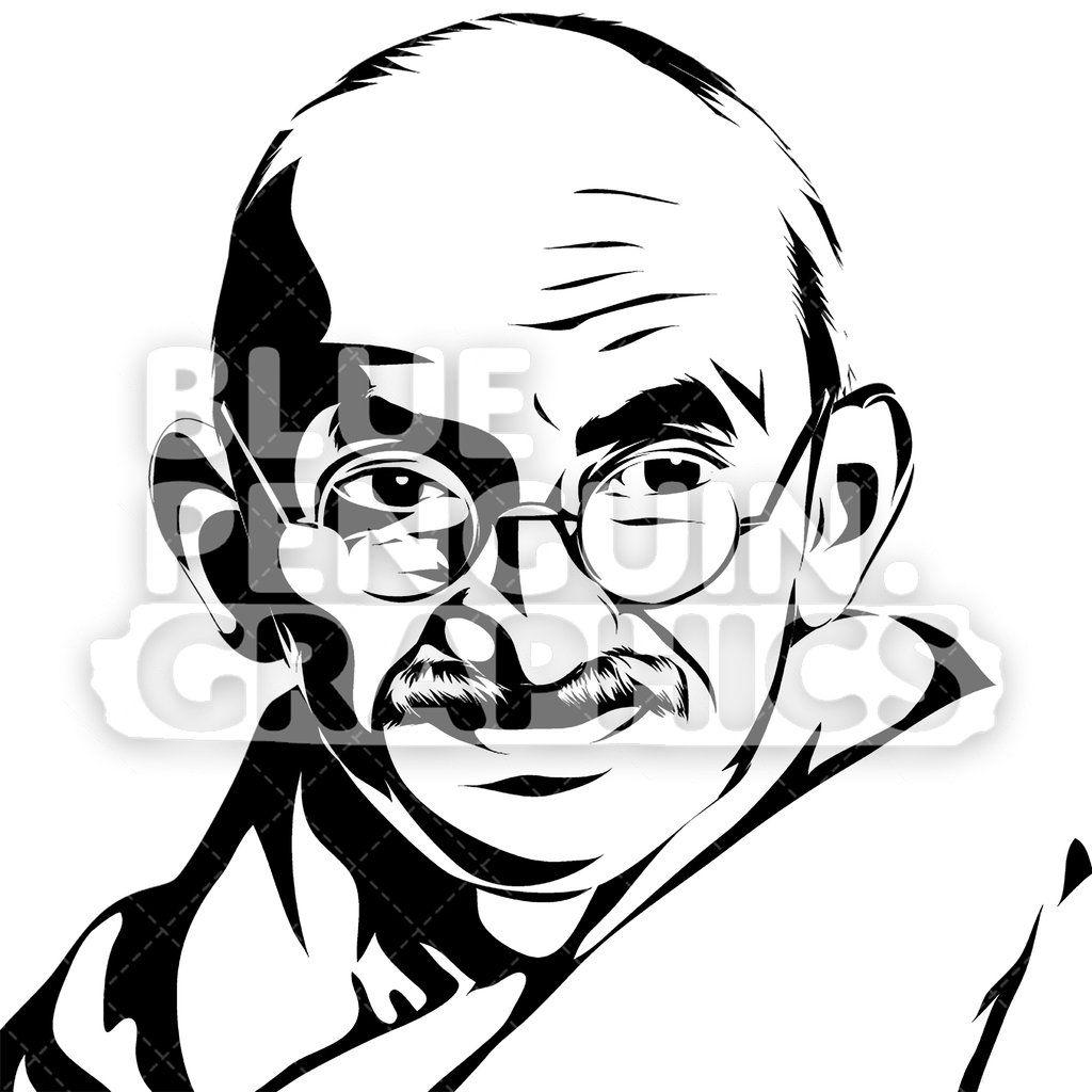 Mahatma gandhi face silhouette gimi mural in 2019