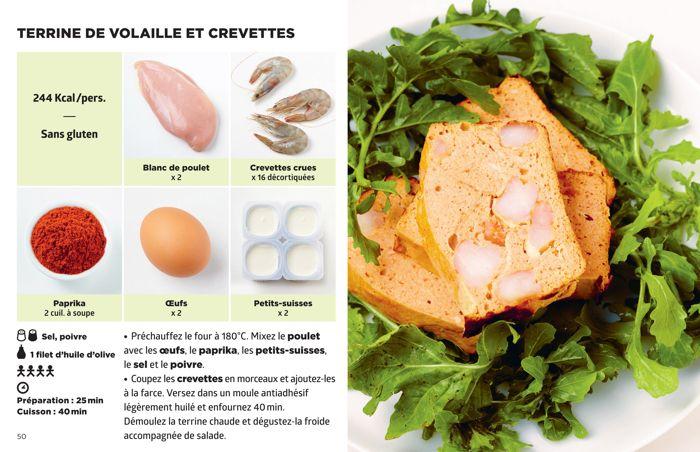 Terrine de volaille et de crevette simplissime recette for Livre cuisine simplissime