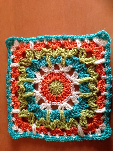 "Ravelry: Project Gallery for See How They Run 12"" Afghan Block pattern by Margaret MacInnis"