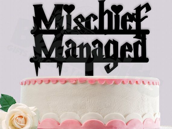Harry Potter Mischief Managed Cake Topper by Bee3DGifts on Etsy