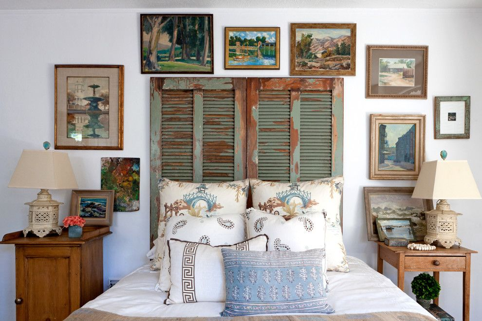 Innovative queen headboards in Bedroom Shabby chic with Asian Paints