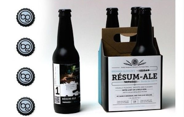 This guy seriously landed a job as a #graphicdesigner by making his #resume out of #beer. This proves the power of creativity in today's world!
