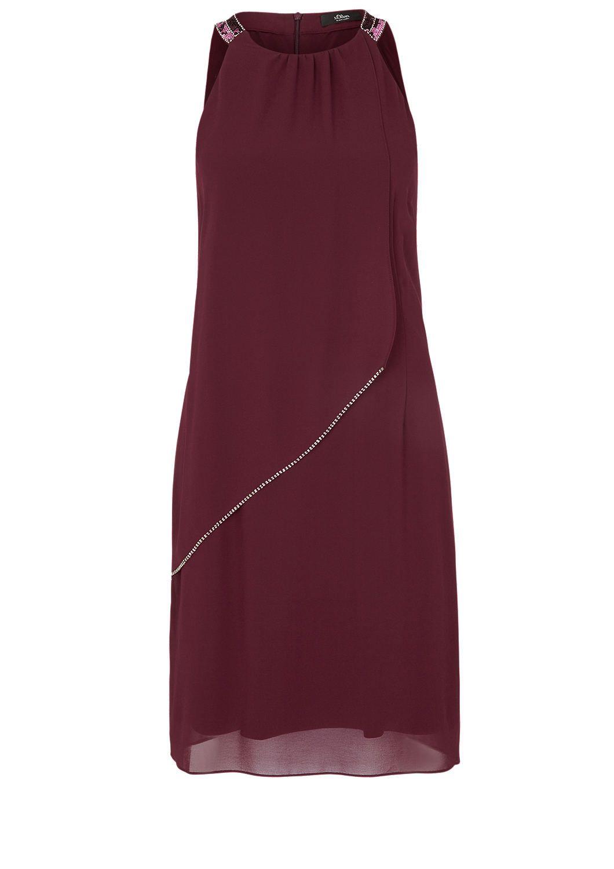 Fließendes Chiffon-Kleid im Lagenlook von s.Oliver. Entdecken Sie