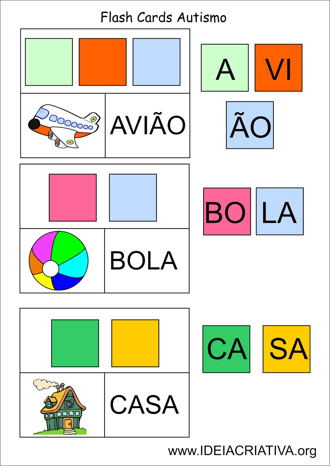 Preferência atividades autismo - Pesquisa Google | leitura e escrita  ZR17