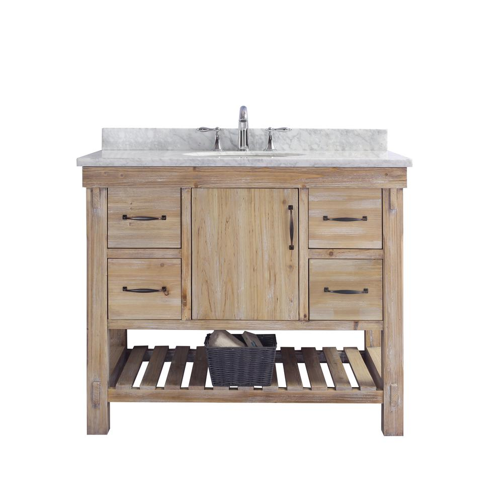 Ari Kitchen And Bath Marina 42 In Single Vanity In Driftwood With