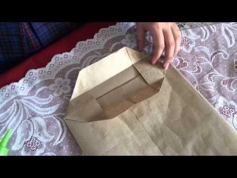 50b9acefd Como hacer bolsas en papel (para sorpresas de cumpleaños o para envolver  regalos) - YouTube