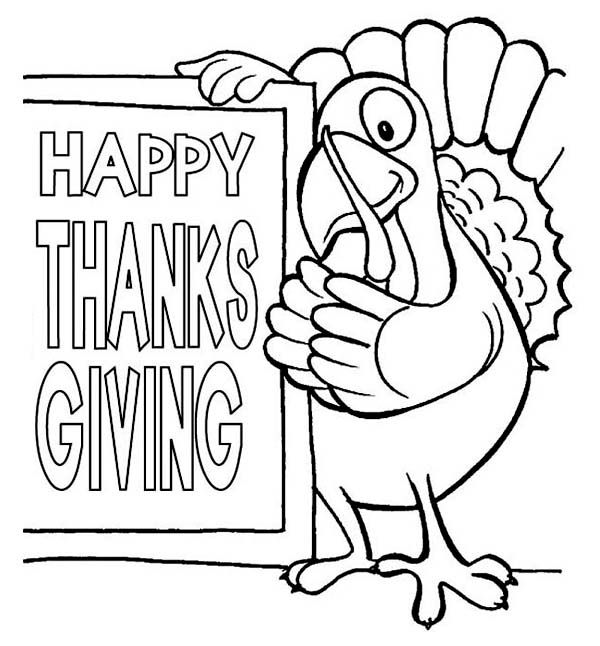 Happy Turkey Day Coloring Pages Taken