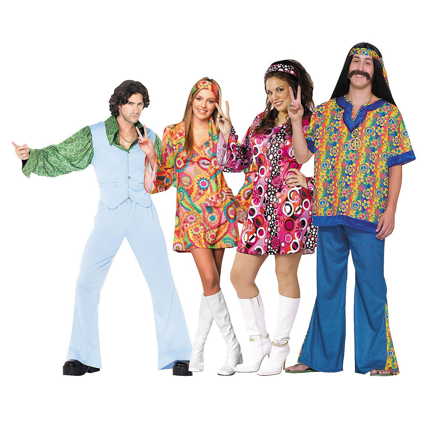 The 70 39 S Group Costumes Orientaltrading Com Disco Costume Fancy Dress Costumes Disco Party Outfit [ 1500 x 1500 Pixel ]