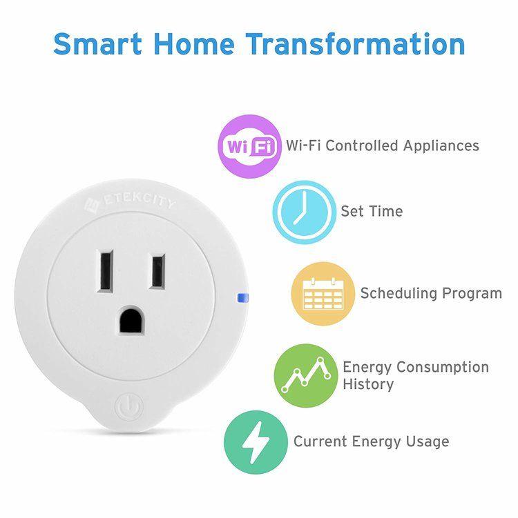 Etekcity Voltson Smart Wifi Outlet Esw01 Usa Vesync Smart Plug Smart Home