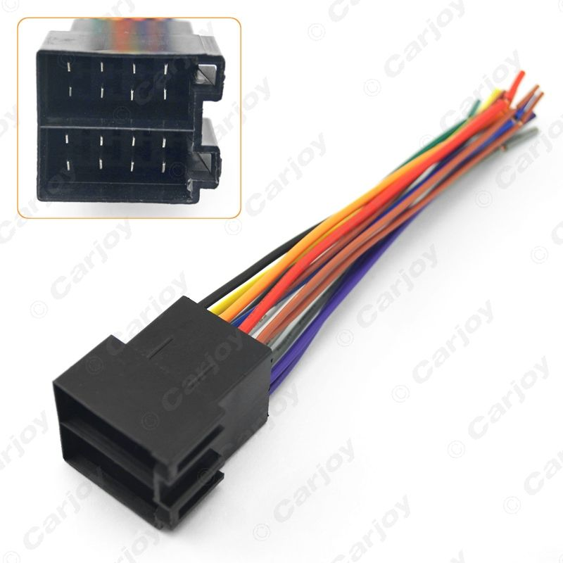 8945010ff5c7113b0cb7ea21f7619e55 5pcs universal female iso radio wire wiring harness adapter  at aneh.co