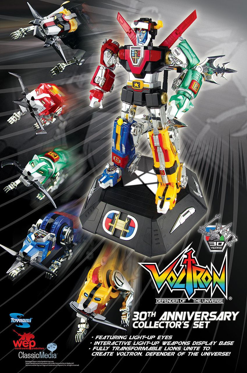 Toy Dojo Masterpiece Voltron 30th Anniversary DieCast