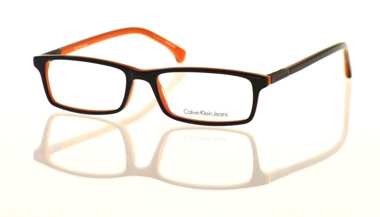 a513e85a56 #Gafa graduada unisex pasta bicolor negra y naranja negra de la Colección  Exclusiva #CALVIN