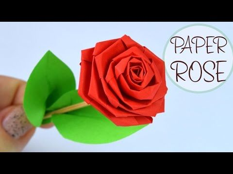 Paper flowers rose diy tutorial easy for childrenorigami flower paper flowers rose diy tutorial easy for childrenorigami flower folding 3d for kids mightylinksfo Choice Image