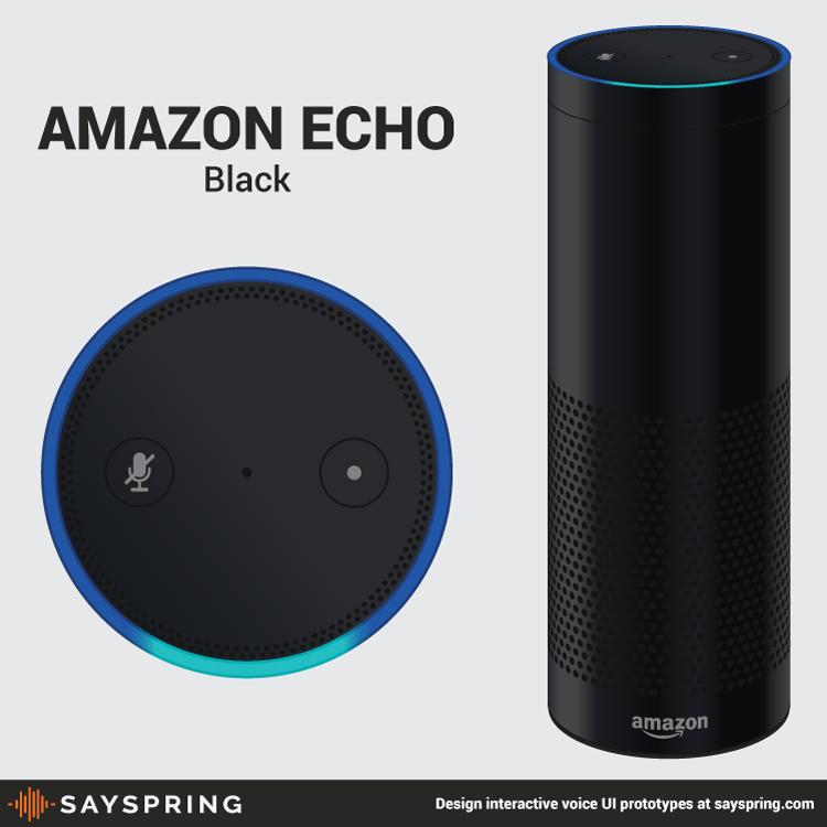 Amazon Echo Vector Black Free Download Sayspring Amazon Echo Free Download Vector