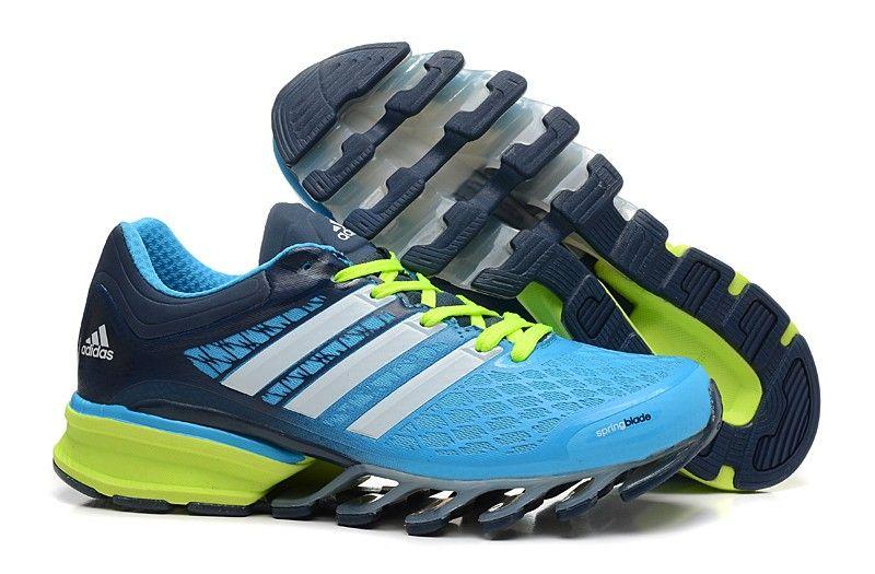 half off 55ed2 d56fb Shop Adidas 2014 Springblade II Sky Blue Green Mens Athletics Running  shoes Online Shop