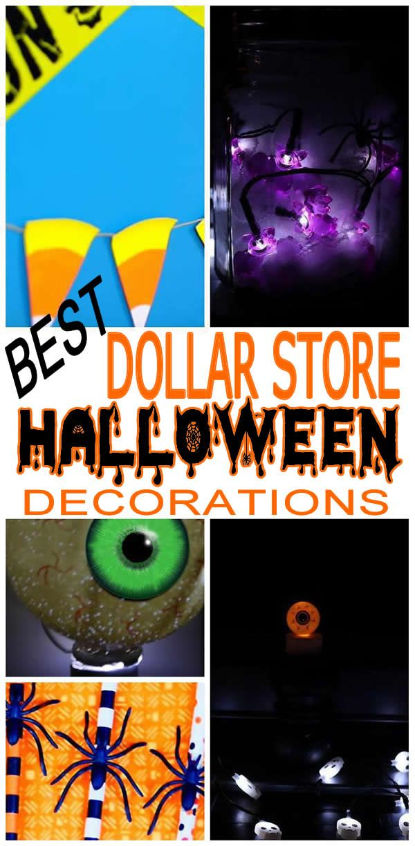 BEST Dollar Store Halloween Decorations! Easy and cheap Halloween