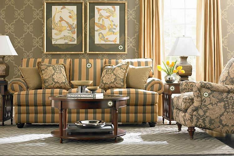 Wallpaper And Stripes Quality Living Room Furniture At Home Furniture Store Furniture