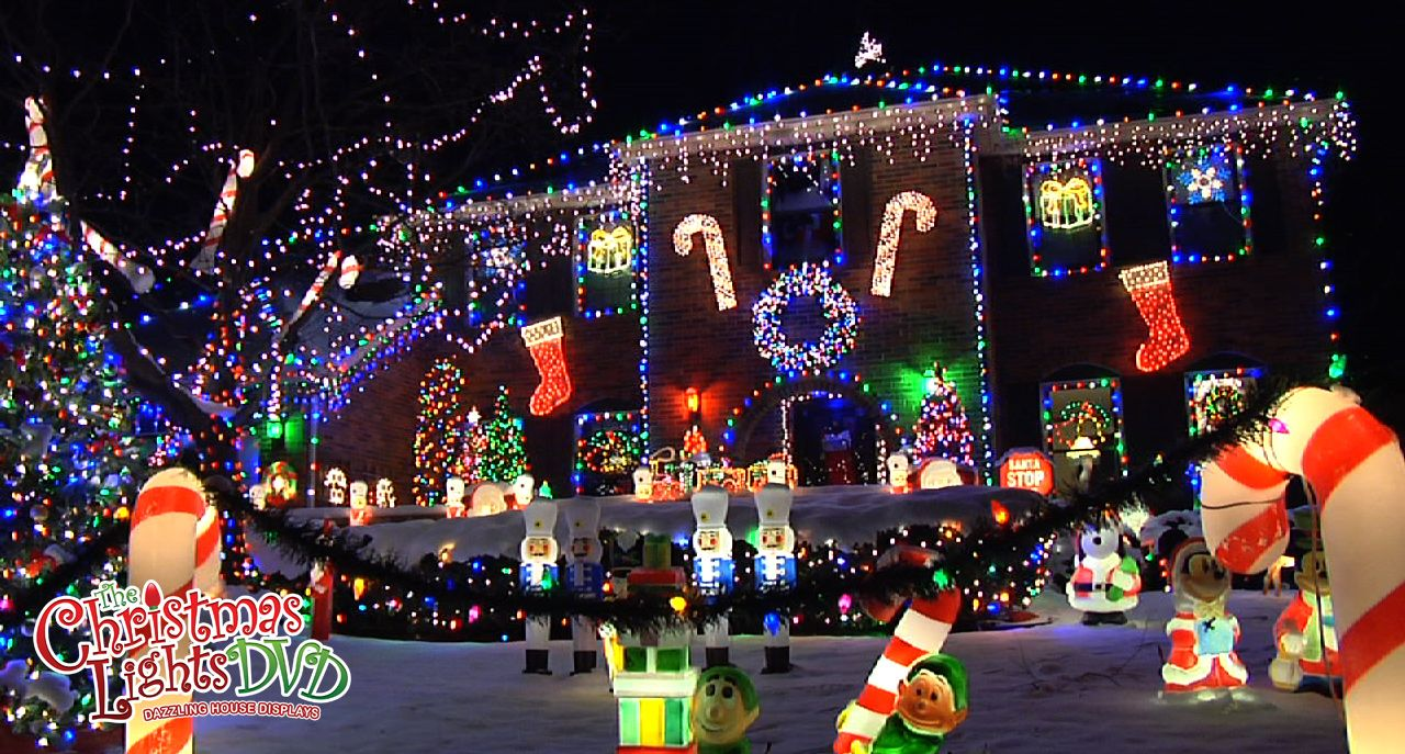 Dazzling Christmas Light Displays See More On The Christmas Lights Dvd Christmas Lights Christmas House Lights Christmas Light Displays