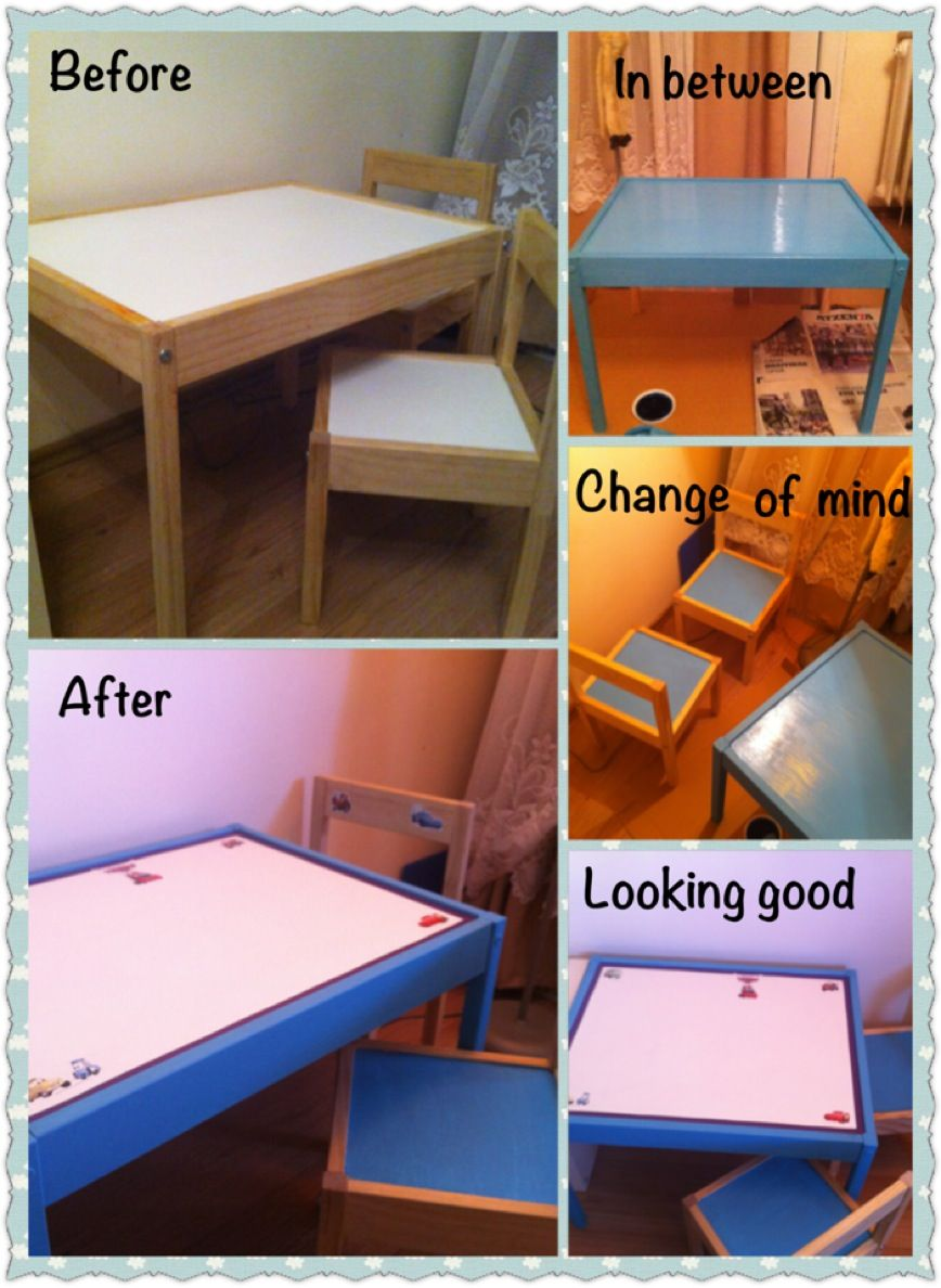 refurbished ikea kids table and chairs  kids table