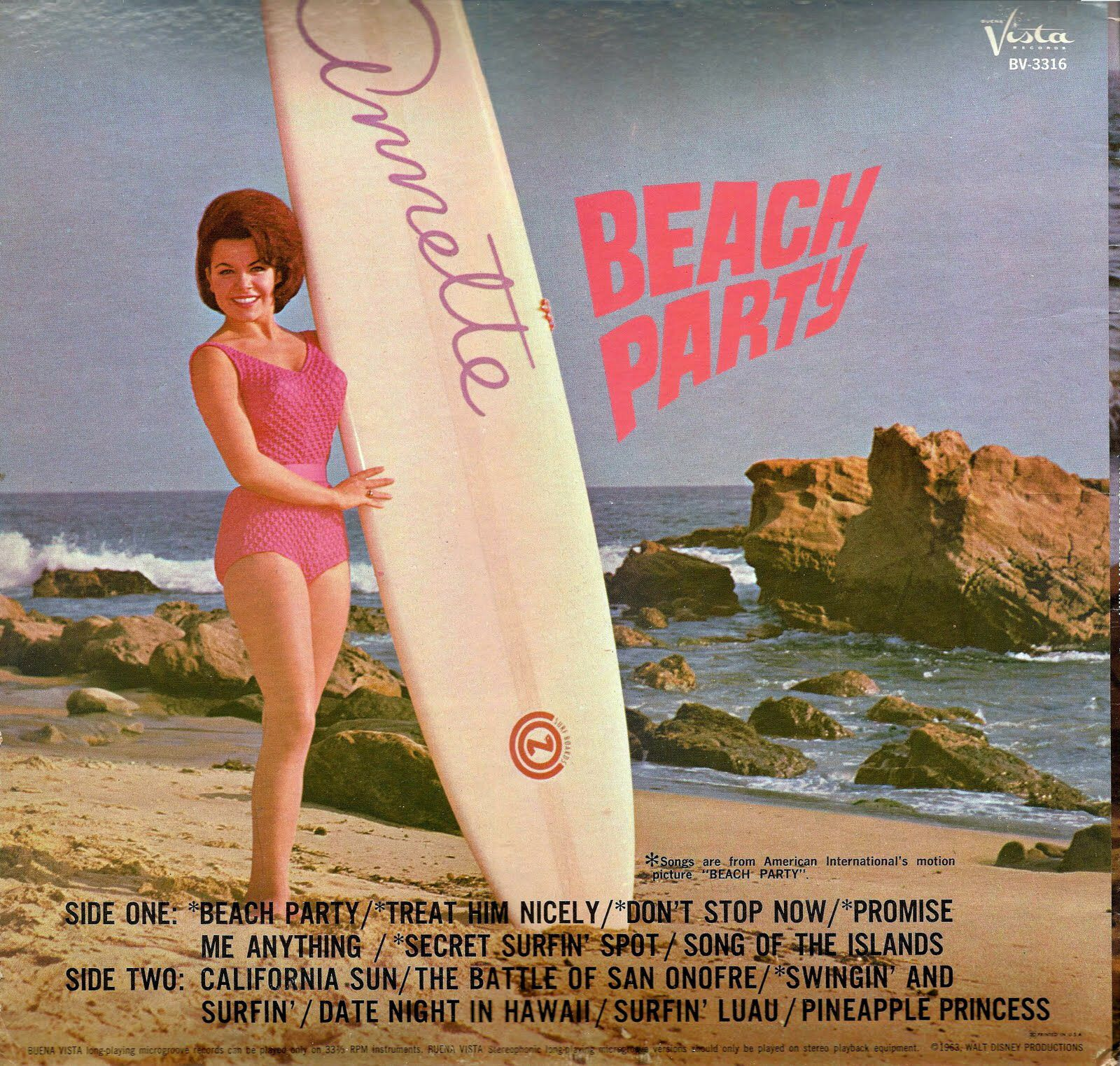 annette funicello beach movies - Annette Funicello - 'Beach Party' cover art, Remember all the beach Party  movies with Annette and Frankie Avalon?