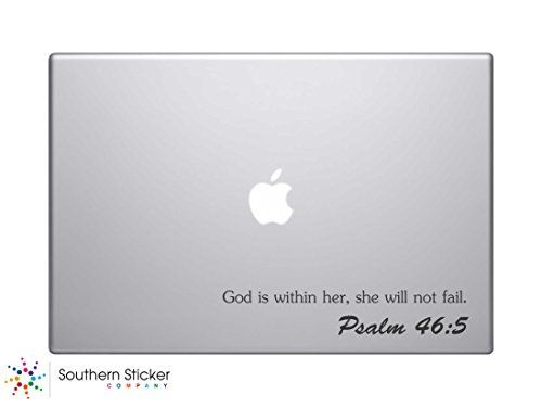 God Is Within Her She Will Not Fail Psalm  Bible Verse Vinyl - Bible verse custom vinyl decals for car