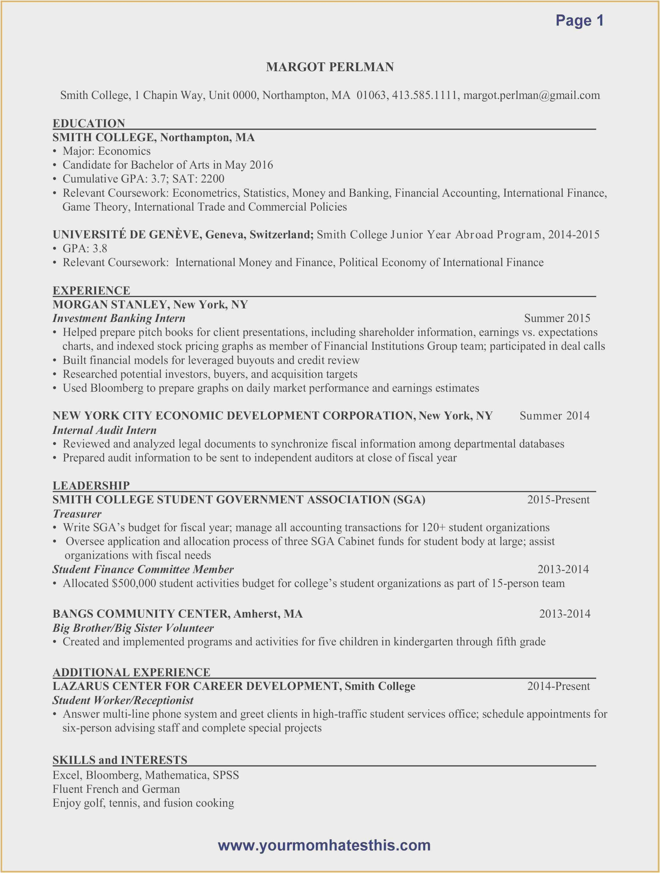 Business Accounts Excel Template Resume Skills Internship Resume Resume Examples