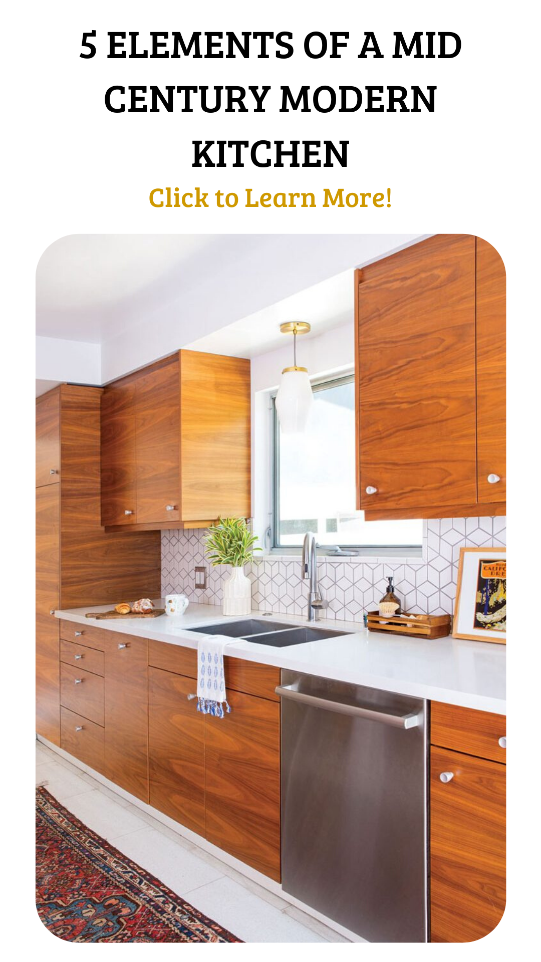 The 5 Elements Of A Mid Century Modern Kitchen Modern Kitchen Remodel Mid Century Modern Kitchen Design Mid Century Modern Kitchen