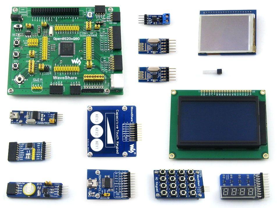 Stm8 Board Stm8s208mb Stm8s208 Stm8 Development Board Touch Lcd