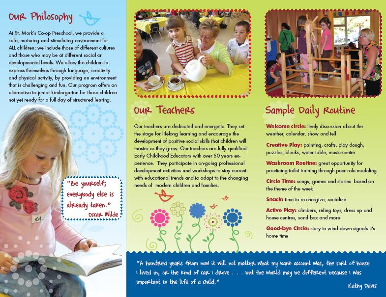 Preschool Brochure  Google Search  Forest Kindy