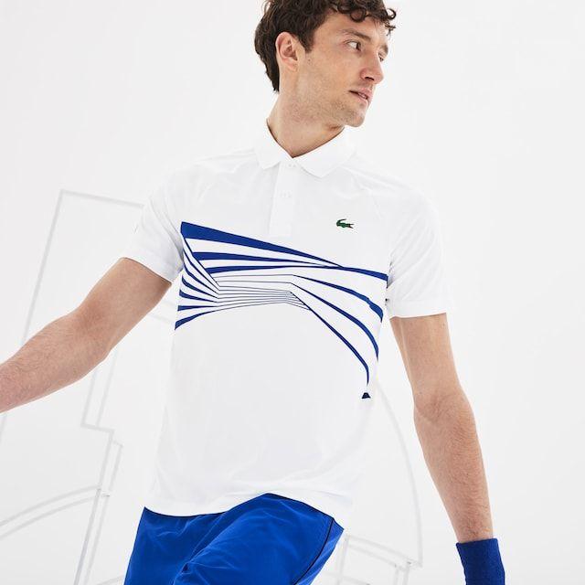 e5605531 Men's Lacoste SPORT Novak Djokovic Collection Graphic Print Tech Jersey Polo  Shirt