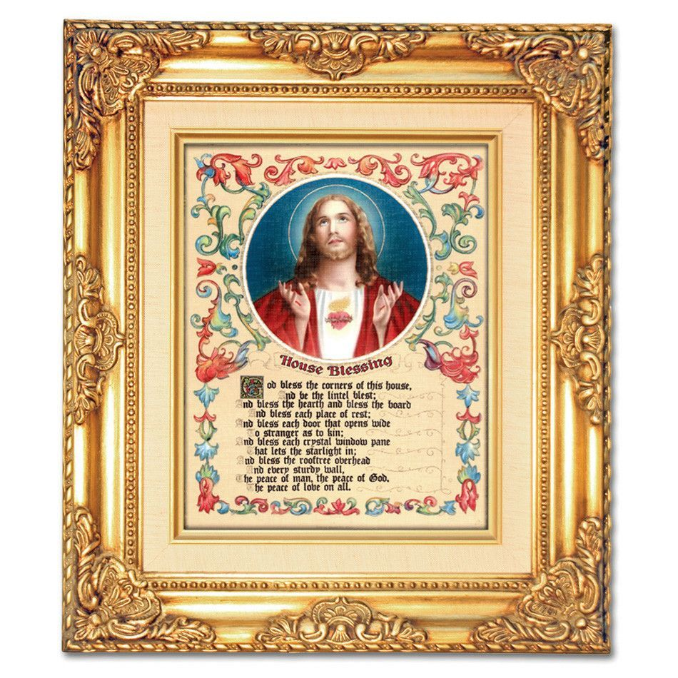 House Blessing Sacred Heart of Jesus Framed Art | House blessing and ...