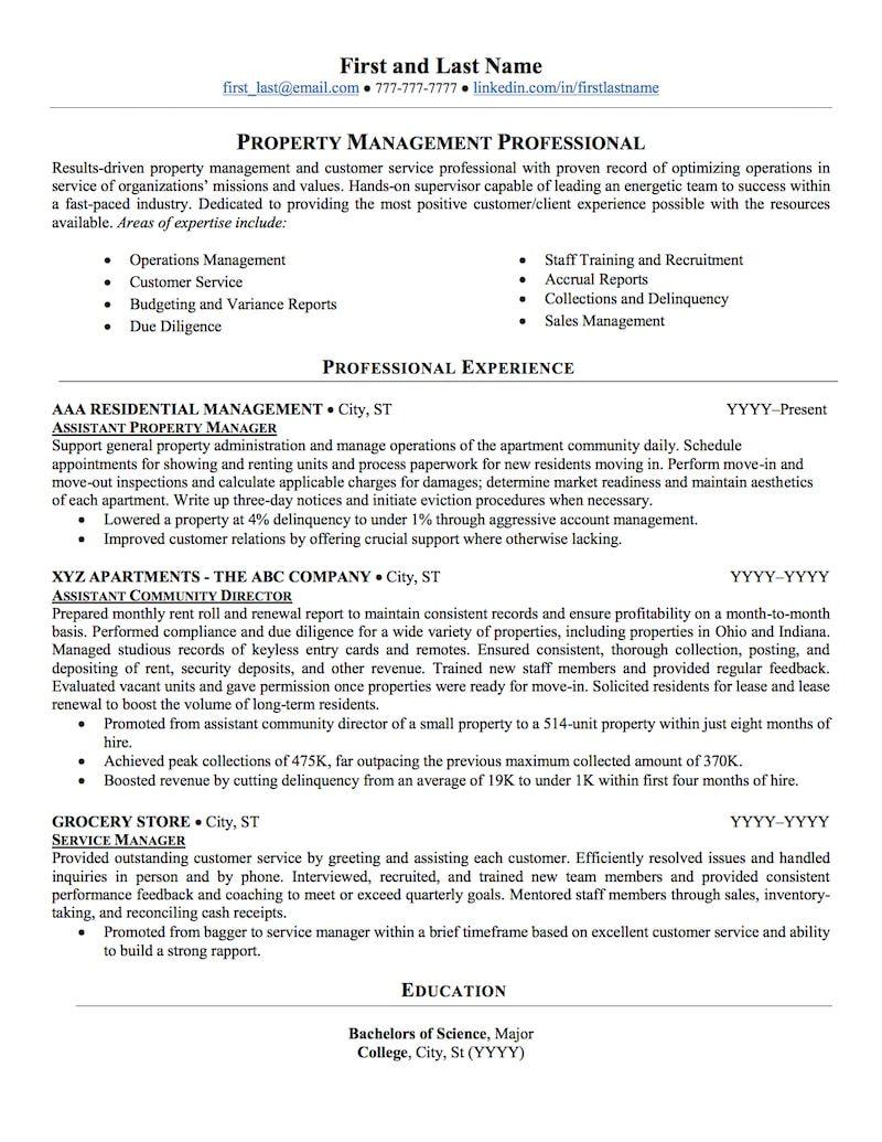 Real estate manager resume sample real estate manager