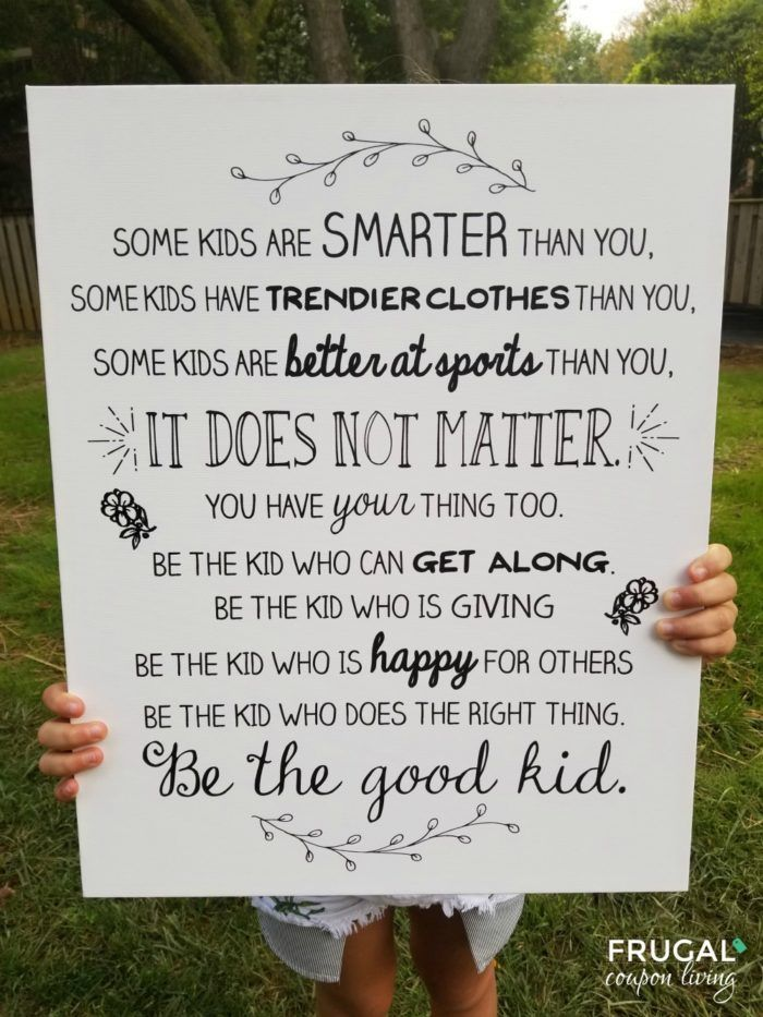 Photo of Be the Good Kid Quote