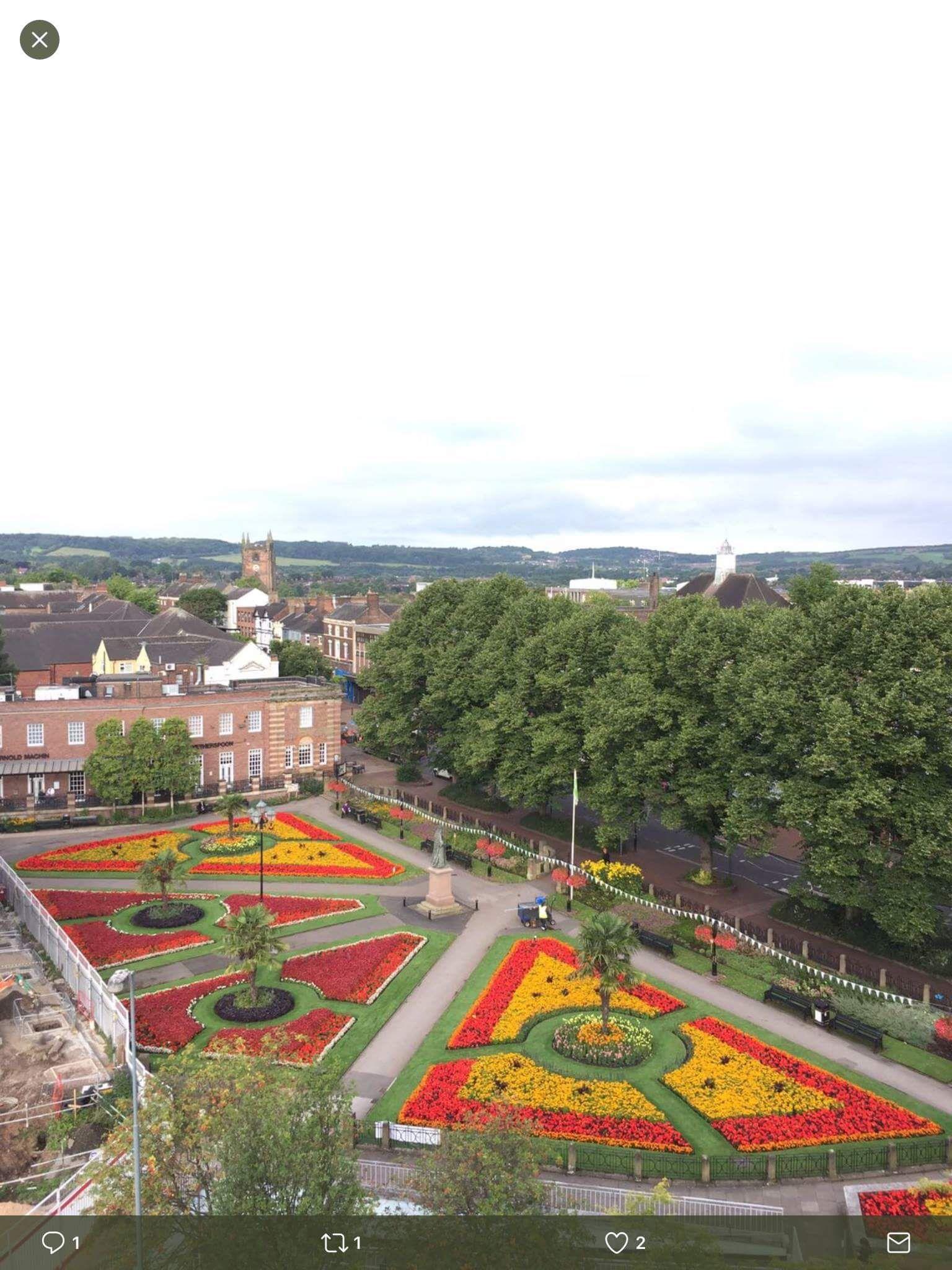 The Queens Gardens in Newcastle-under-Lyme, Staffs, taken ...