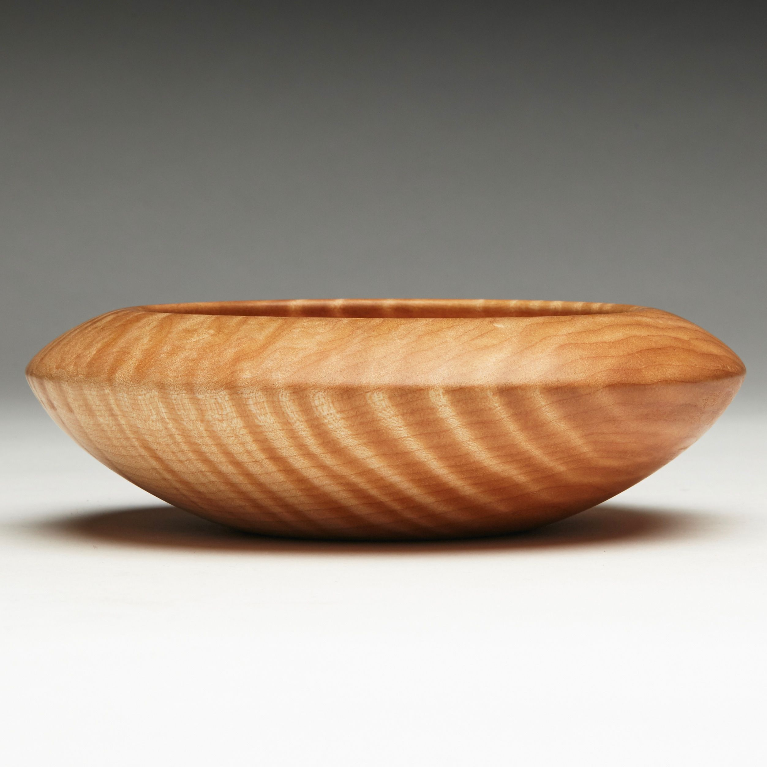Hand turned flame quilted maple vessel hand turned wood bowls contemporary wood furnishings and accessories with specialty in hand turned wood bowls and vases and wood serving boards and wood cutting boards reviewsmspy
