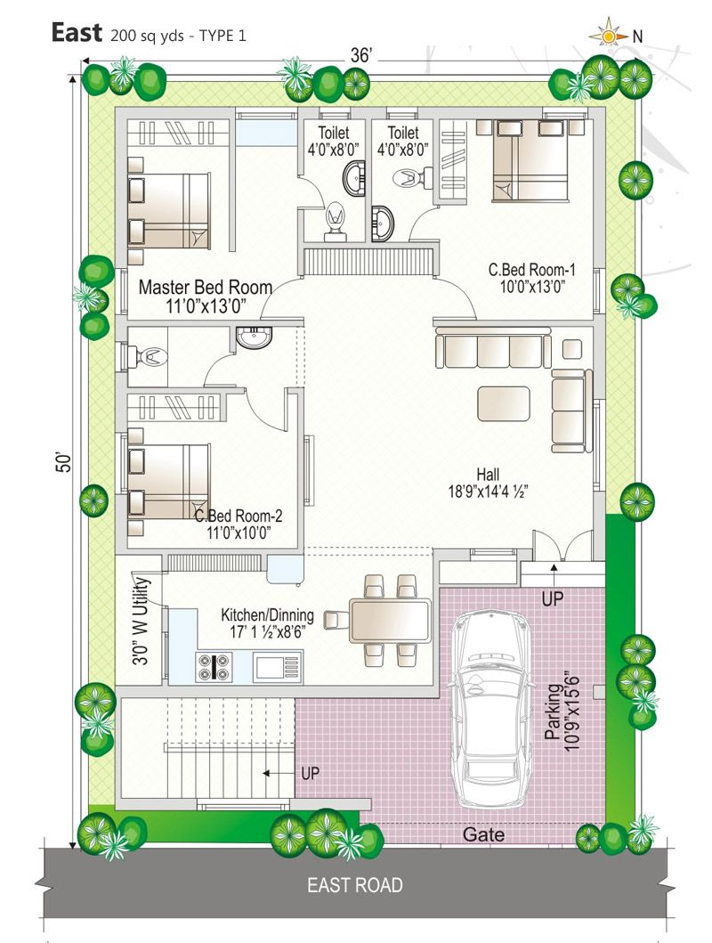 East Facing House Plan As Per Vastu West Facing House Indian House Plans My House Plans