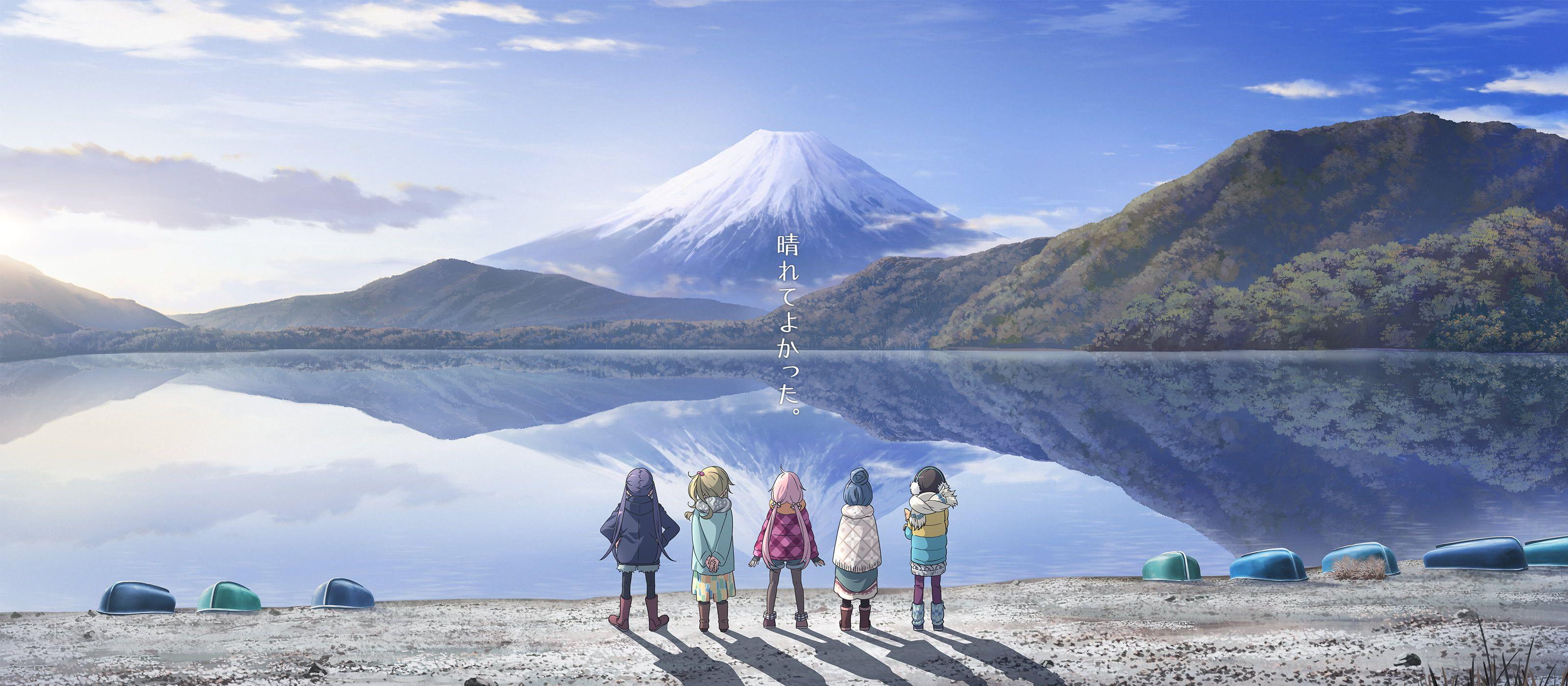 Rin Shima Nadeshiko Kagamihara Aoi Inuyama Chiaki Oogaki Anime Girls Yuru Camp Anime Ena Saitou 2k Wallpaper Hdwallpape Wallpaper Desktop Wallpaper Camping