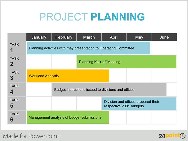 Using PowerPoint Calendars as a time management tool