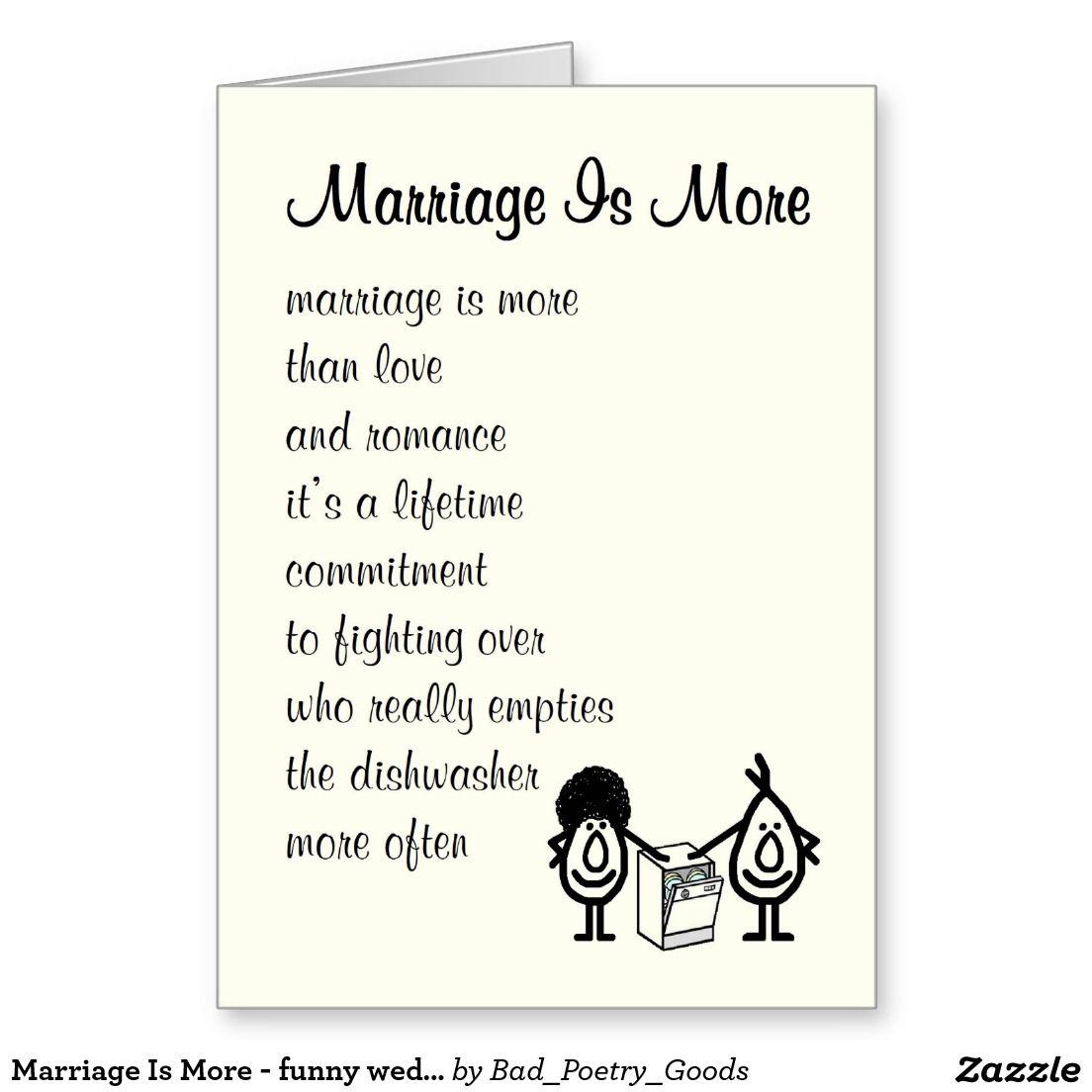 Short Funny Poems For Wedding
