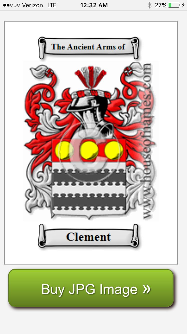 Family crest clement clemens clements anglo saxon origin family crest clement clemens clements anglo saxon origin buycottarizona Images