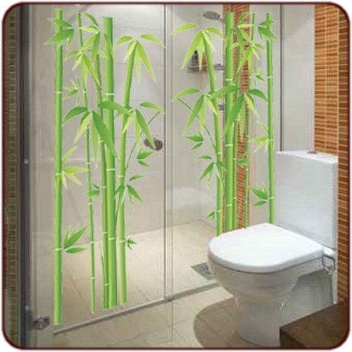 sticker bambou | Bricolage en 2019 | Bathroom, Toilet et Decor