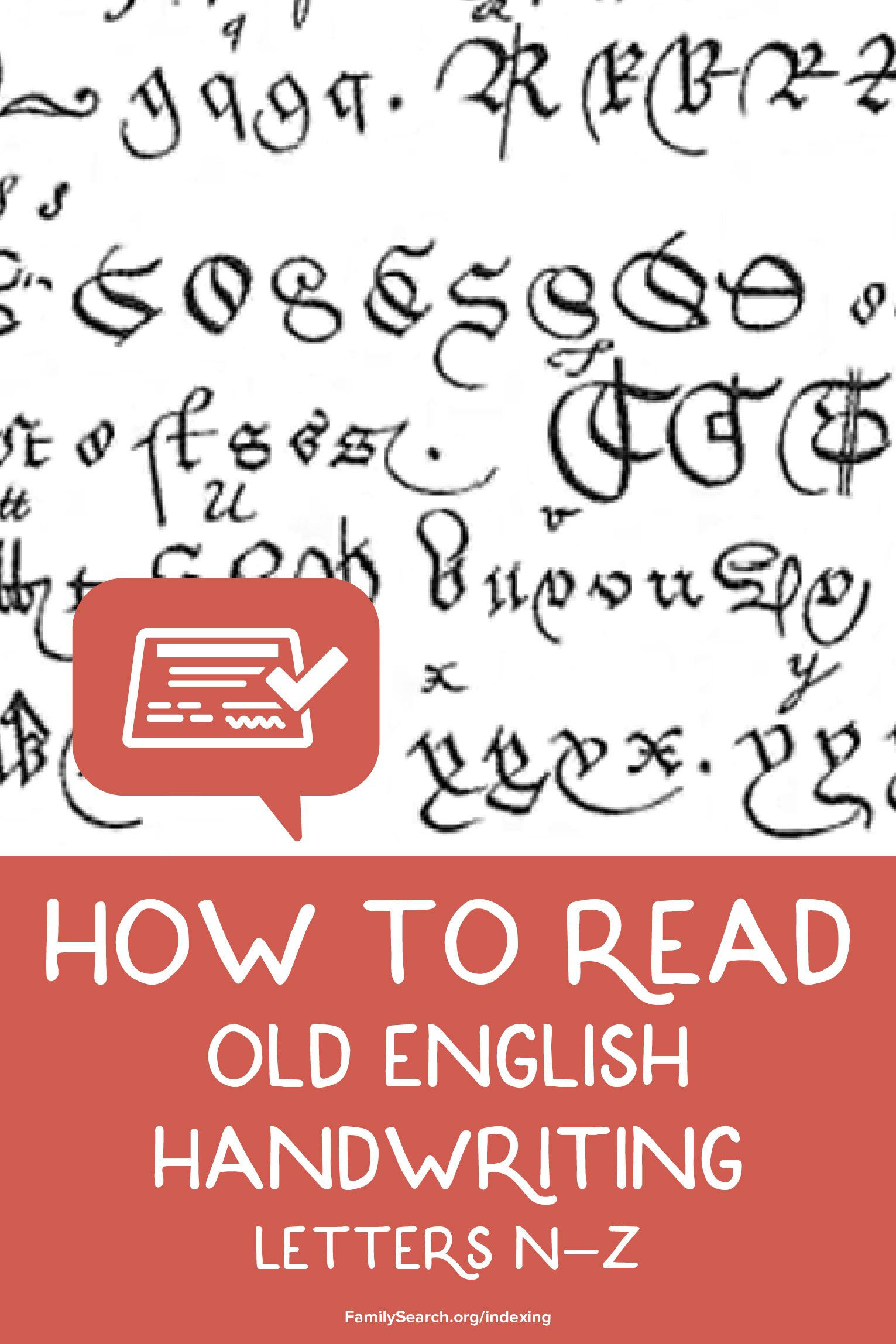 how to read old english handwriting