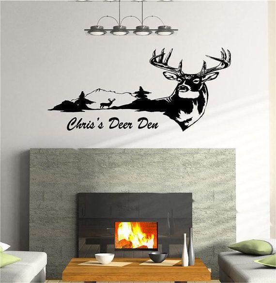 Deer Wall Decal Sticker Rustic Cabin and Lodge Decor Deer Buck