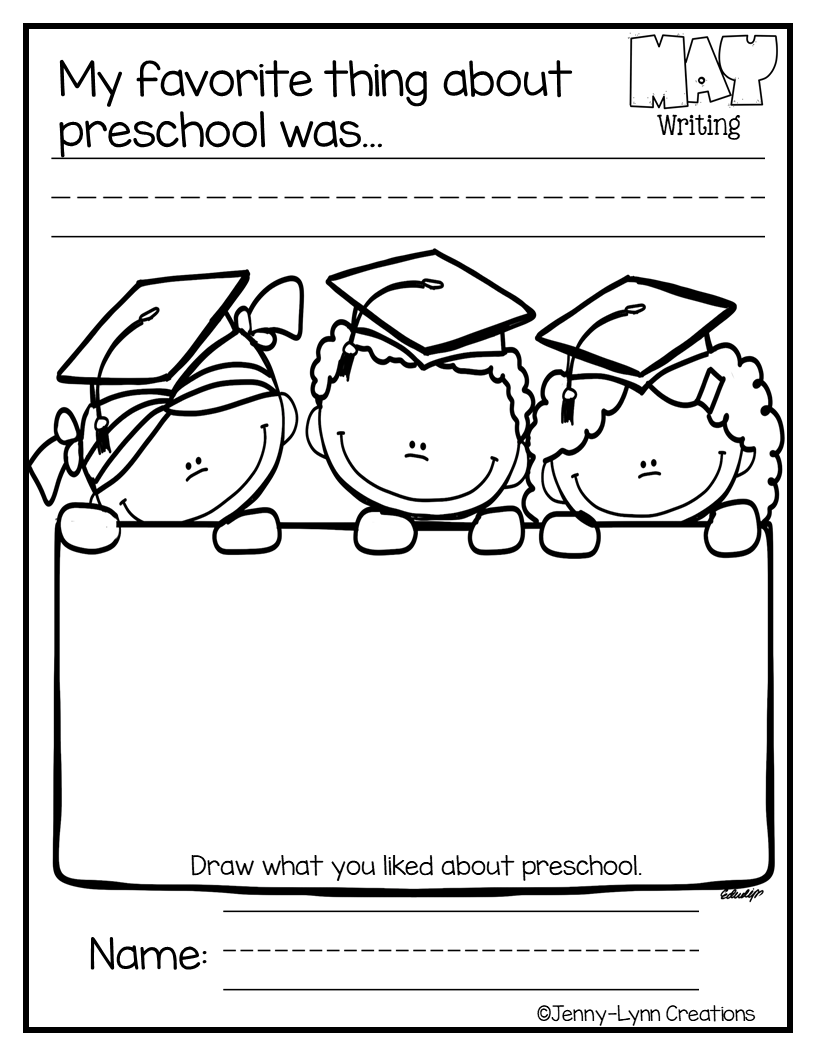 May Math Literacy Preschool Preschool Graduation Songs Preschool Memory Book Preschool Graduation [ 1056 x 816 Pixel ]