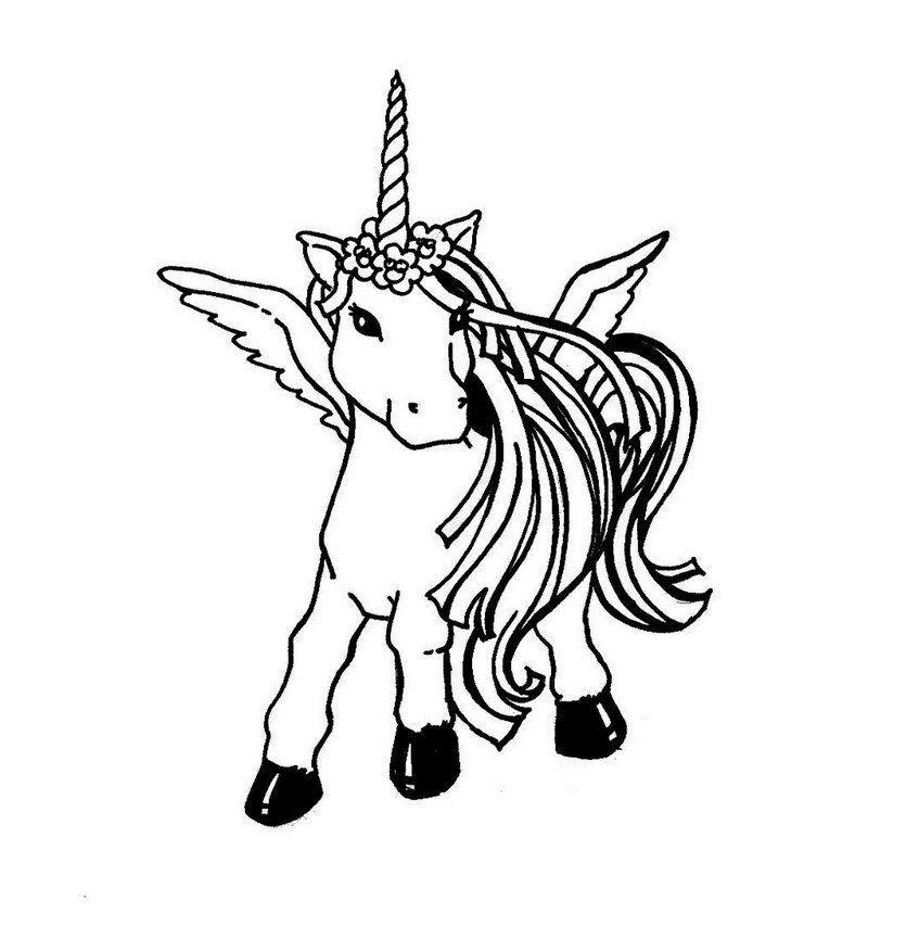 Coloring Page Of A Unicorn Printable